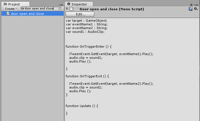 unity how to make a script a parameter object