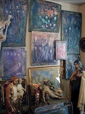 Art by Duncan Chrystal inside the store.