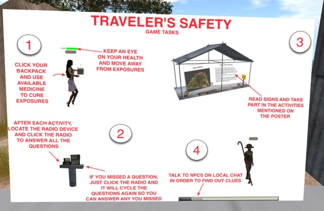 Immersive Learning on the East Africa Traveler Safety Simulation